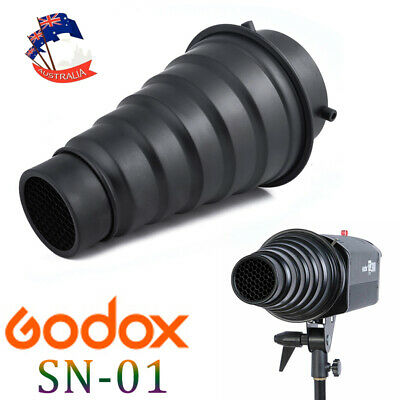Godox SN-01 Snoot Honeycomb Grid Light Beam Tube for Bowens Mount Studio Flash