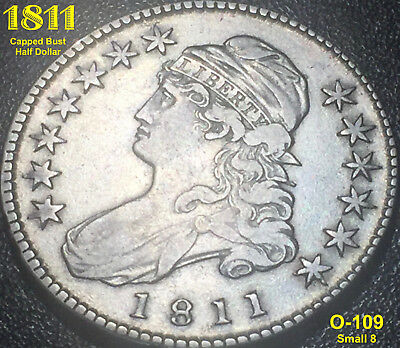 1811 Capped Bust Half Dollar (O-109) Small 8