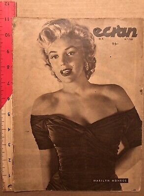 Lovely Marilyn Monroe ECRAN #1169 From 1953 From CHILE VINTAGE Cover RARE