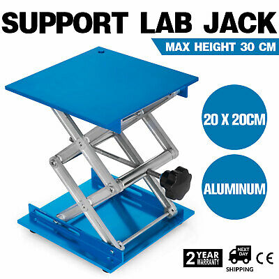 "8"" X 8"" Lab Jack Aluminum Lab Lifting Platform Stand Lifter Oxide Crafted"