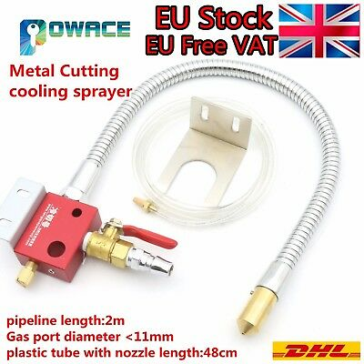 〖UK〗 Metal Pipe Mist Coolant Lubrication Spray System for CNC Lathe Milling Tool