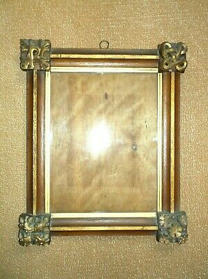Antique 19Th C Arts & Crafts Carved Wooden Sample Picture Frame 4 Diff. Corners