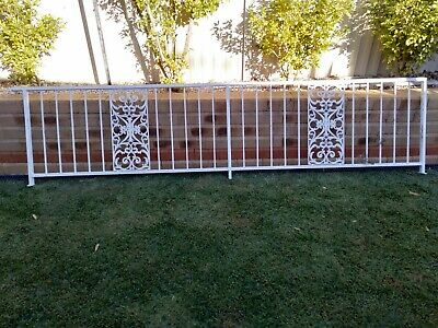Wrought iron / steel Balustrade / decorative fence panel / gate / white 3500mm