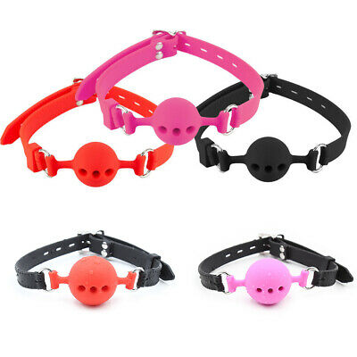 Open Mouth Restraints Full Silicone Gag Toy Breathable BDSM Sexy Slave Gift