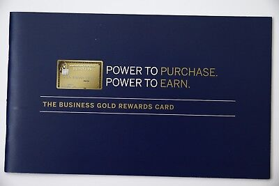 American Express The Business Gold Rewards Card Brochure Booklet Advertisement