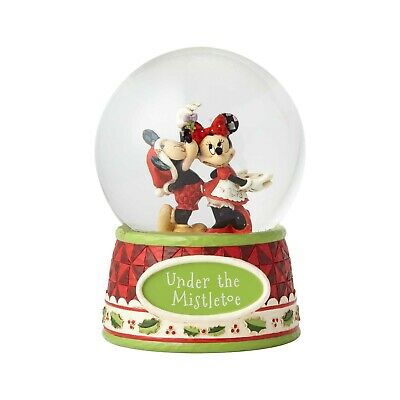 Jim Shore Disney Traditions - Mickey And Minnie Mouse Christmas Waterball - Unde