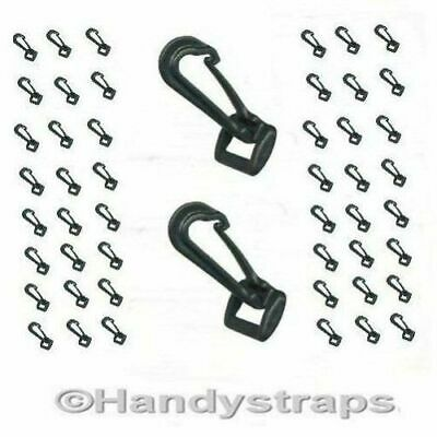 Dog / Snap Hooks 50 x 25 mm Black Plastic for Webbing Handy Straps