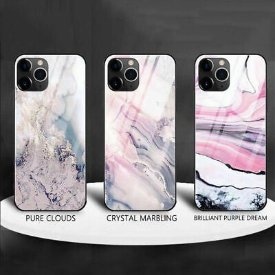 Luxury Marble Tempered Glass Case Art Cover For iPhone 11Pro X XS XR Max 10 8 7