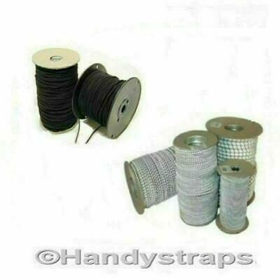 Elastic Bungee Shock Cord 2 Meter of 6mm  Black Handy Straps
