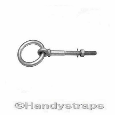 Ring bolts Collared 8mm Galvanised with nut  Handy Straps