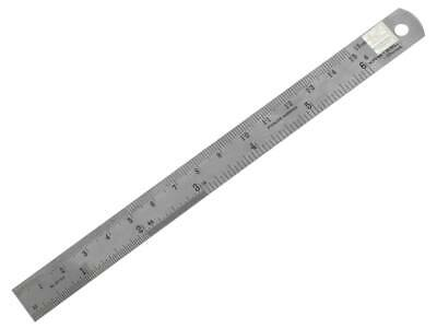 "Cooksongold Standard 6""/15cm Engineers Stainless Steel Metric/Imperial Ruler"