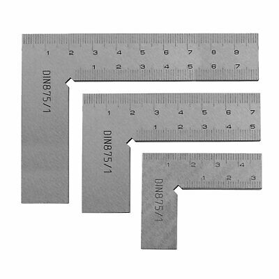 Technique Professional Solid 90° Engineers Squares Engineering Tools 50/75/100mm