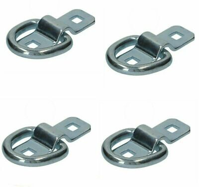 Lashing Dee Rings and Cleats 4 x 1.5 ton zinc plated Tie Downs Hooks Trailer