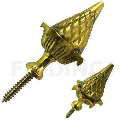 Brass ACORN ball spire finial grandfather clock watch tool 53mm high x 35mm wide