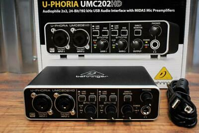 Behringer U-Phoria UMC202HD Audiophile 2x2 24 Bit USB Recording Interface Midas