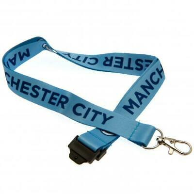 Manchester City Football Club Nylon Lanyard with Metal Clip Official MCFC EPL