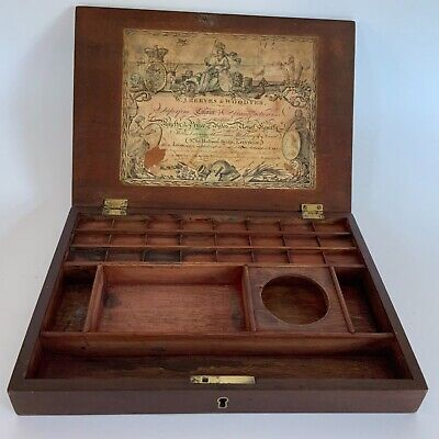 Antique Watercolour Box By W.J.Reeves & Woodyer ( Empty )