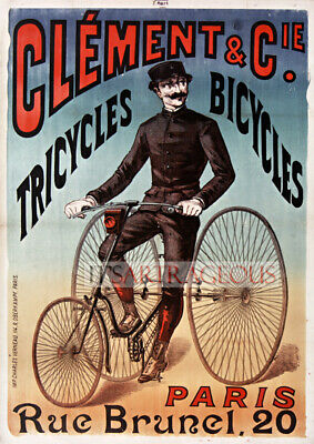 Vintage Atlas India/'s Favourite Bicycle Advxertisement Poster A4//A3//A2//A1 Print