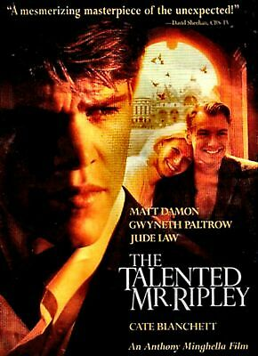 NEW DVD- THE TALENTED MR RIPLEY - Matt Damon, Gwyneth Paltrow, Jude Law, Cate Bl