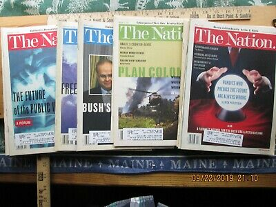 the nation magazine 2001 lot of 16