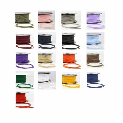 Round Rayon Elastic Cord - 3mm - 17 Colours - Multibuy Savings & Free Postage
