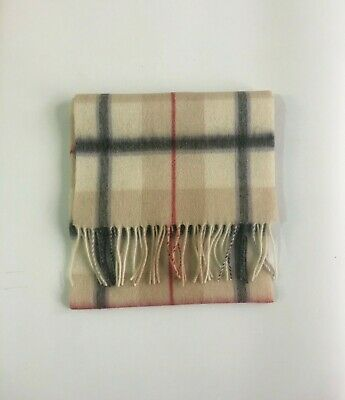 New Scottish 100% Lambswool of Scotland Scarf Tartan Wool Scarves Camel Check