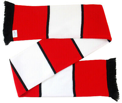 Cheltenham Town Supporters Red and White with a Black Stripe Retro Style Scarf