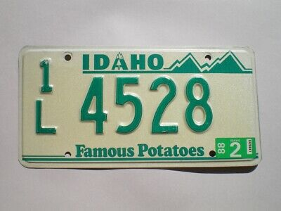 Authentic 1988 Idaho License Plate