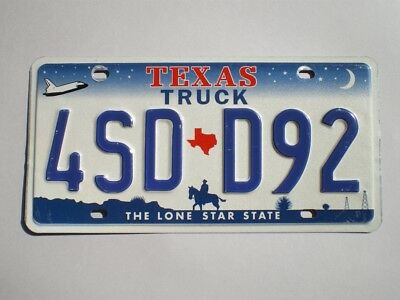 Authentic 2000 Texas License Plate