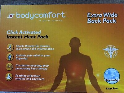 Body Comfort Extra Wide Click Activated Instant Heat Pack