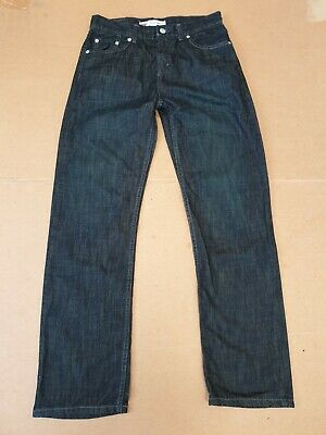 L329 Kids Levi's 514 Dark Blue Straight Leg Denim Jeans Age 18 Years W29 L29