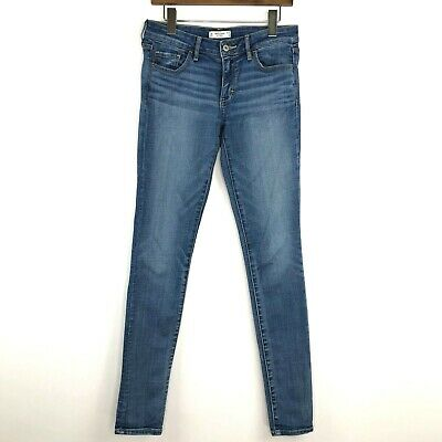 Women's Abercrombie & Fitch Super Skinny Jeans Sz 4 27x31 Light Wash Jeggings