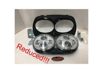 1998 Thru 2013 Flt Dual Led Head Light Assy For Road Glide