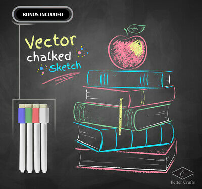 Black Chalk Film Removable Cling Adhesive Surface for Walls, Doors, Tables,