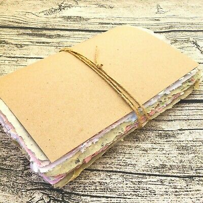 Junk journal with handmade paper and mixed paper, handmade junk journal, Deckle