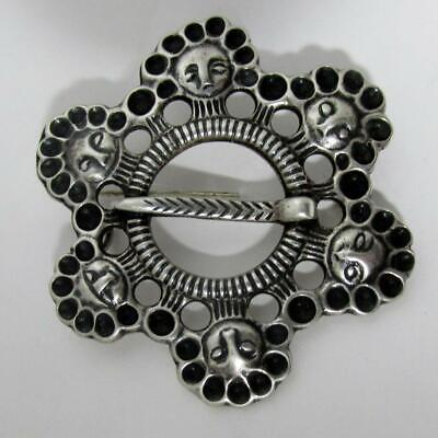 EARLY MARK 830S DAVID ANDERSEN NORWEGIAN FRA MIDDEALDEREN SOLJE BROOCH c1890s