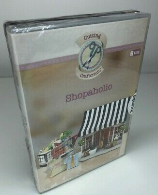Cutting Craftorium Shopaholic USB and  Click, Print, Go CD-ROM - New & Sealed