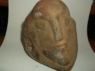 Small Stone Sculpture from the Pre columbian of Bolivia.Kind of like Picasso