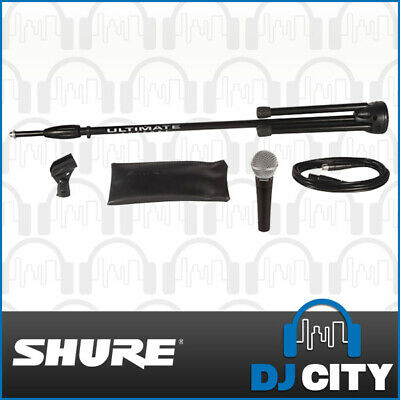 Shure Stage Performance Kit - SM58 Dynamic Vocal Microphone + XLR Cable + Stand