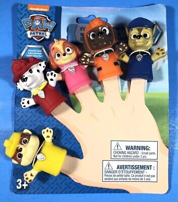 Nickelodeon PAW PATROL FINGER Bath PUPPETS SET OF 5 New For KIDS.