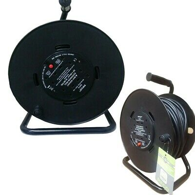 50 Meter Extension Cable Reel Lead 4 Ways Heavy Duty Mains Socket 13 Amp
