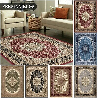 Small Large Traditional Classic Rug Floor Carpet Living Room Bedroom Hall Runner