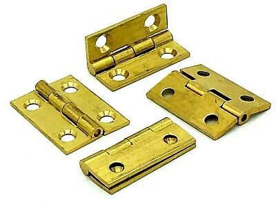 4x Butt Hinges 25mm solid brass dolls house jewelry trinket box door hinge (701)