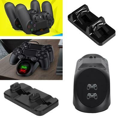 Charging Dock 2 Controllers Charger Station Gamepad Stand Fit for PS4/PRO/SLIM