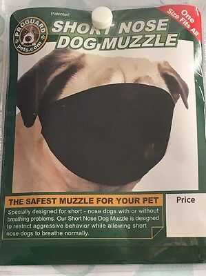 Short Nose Dog Muzzle For Pugs / Shih Tzu or any flat faced Dogs