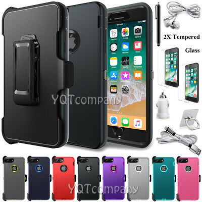 Defender Case With Belt Clip & Screen Protector For iPhone 11 Pro Max 7 8 6 Plus