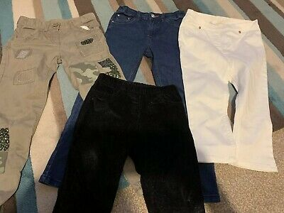 Girls Jeans Trousers x 4 Pairs 6-7-8 Years