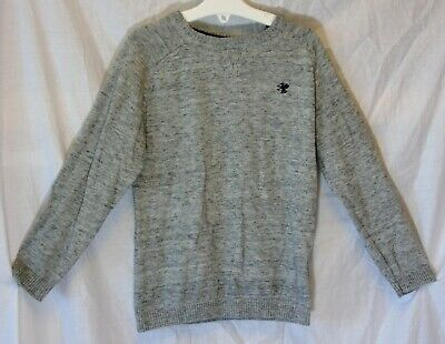 Boys Next Grey Marl Fleck Thin Knit Crew Neck Jumper Age 6 Years