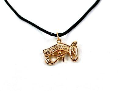 Eye of Horus (Wedjat) hand made Egyptian Gold Plated pewter pendant,