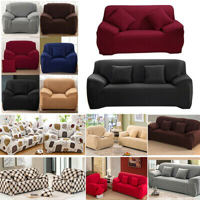1/2/3/4 Seater Elastic Sofa Covers Slipcover Settee Stretch Couch Protector Set